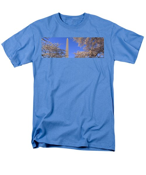 Cherry Blossoms And Washington Men's T-Shirt  (Regular Fit) by Panoramic Images
