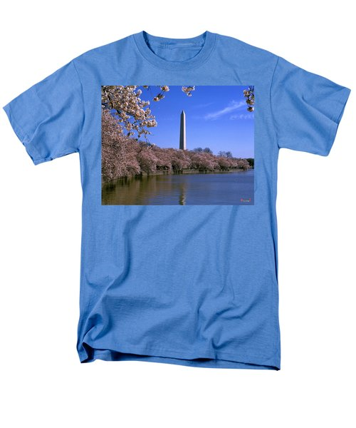 Men's T-Shirt  (Regular Fit) featuring the photograph Cherry Blossoms On The Tidal Basin 15j by Gerry Gantt