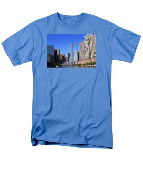 Men's T-Shirt  (Regular Fit) featuring the photograph Chicago River by Milena Ilieva