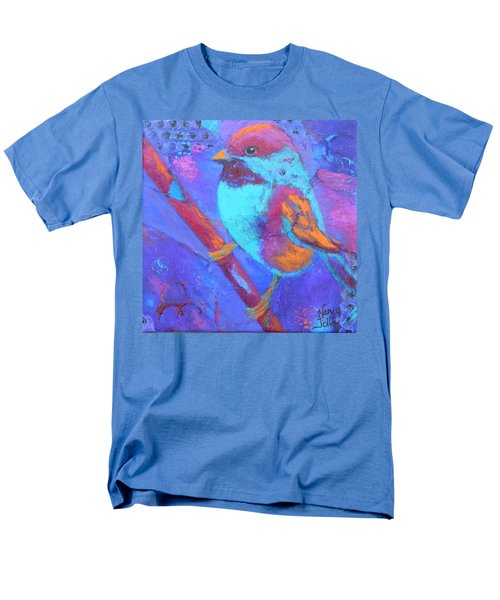 Men's T-Shirt  (Regular Fit) featuring the painting Chickadee by Nancy Jolley