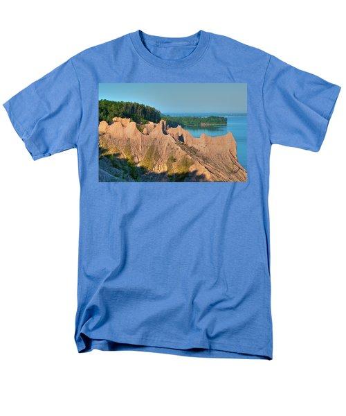 Chimney Bluffs 1750 Men's T-Shirt  (Regular Fit) by Guy Whiteley
