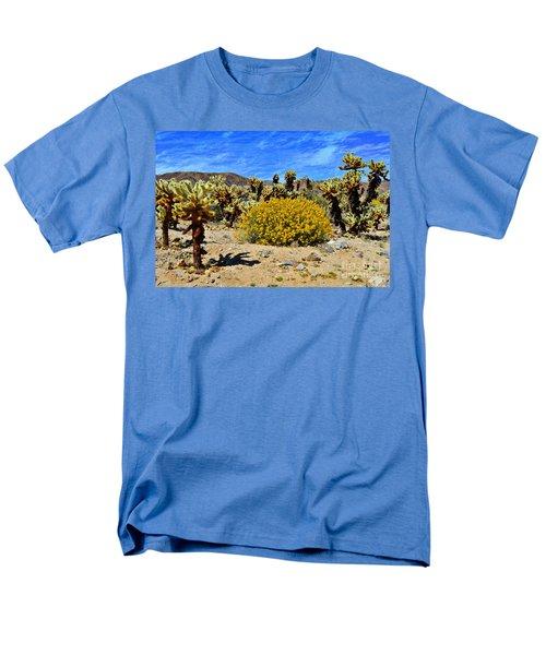 Cholla Garden Of Joshua Tree National Park Men's T-Shirt  (Regular Fit) by Glenn McCarthy Art and Photography