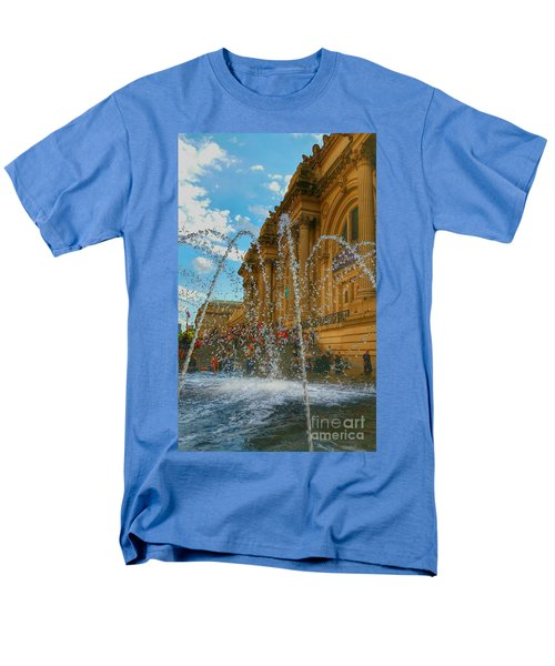 Men's T-Shirt  (Regular Fit) featuring the photograph City Fountain  by Raymond Earley