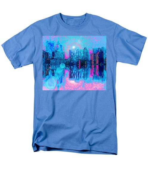 Men's T-Shirt  (Regular Fit) featuring the digital art City Twilight by Holly Martinson