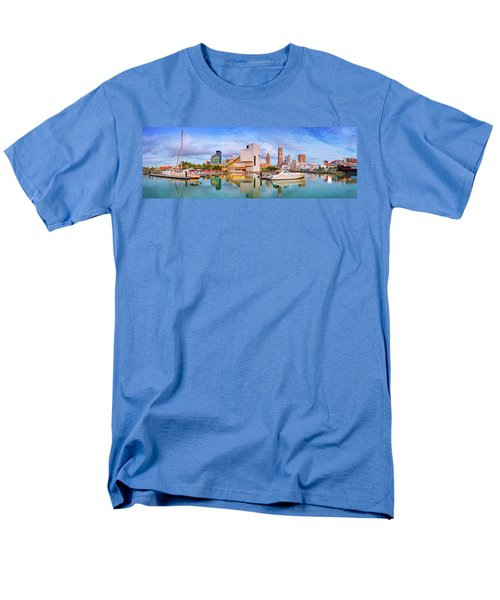 Men's T-Shirt  (Regular Fit) featuring the photograph Cleveland  Pano 1  by Emmanuel Panagiotakis