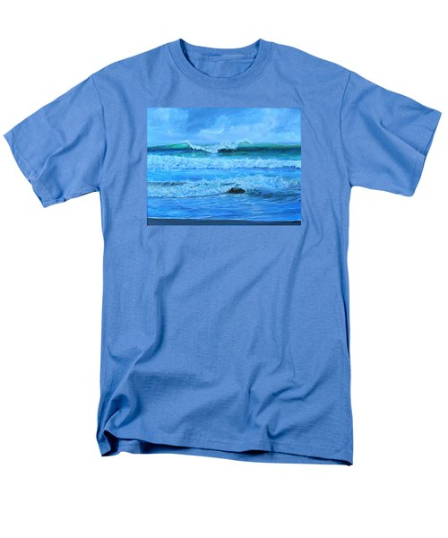 Men's T-Shirt  (Regular Fit) featuring the painting Cocoa Beach Surf by AnnaJo Vahle