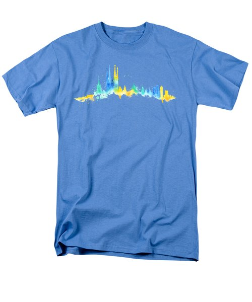 Color Barcelona Skyline 02 Men's T-Shirt  (Regular Fit) by Aloke Creative Store