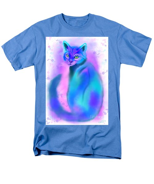 Men's T-Shirt  (Regular Fit) featuring the painting Color Wash Cat by Nick Gustafson