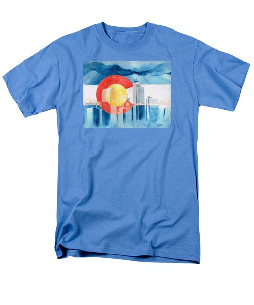 Men's T-Shirt  (Regular Fit) featuring the painting Colorado Flag by Andrew Gillette