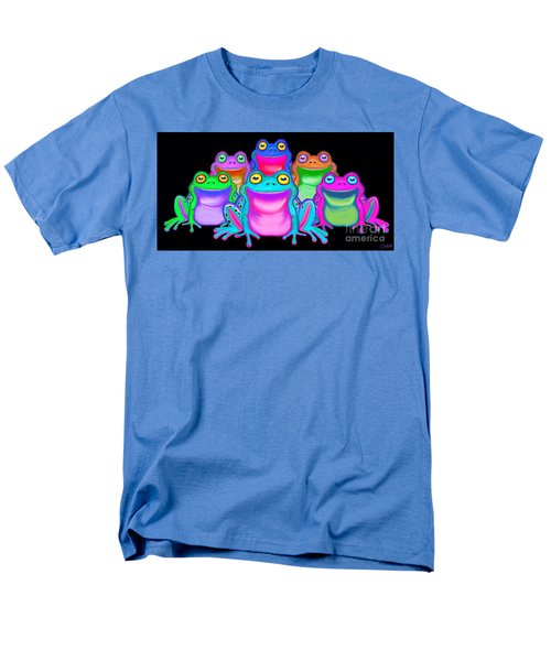 Men's T-Shirt  (Regular Fit) featuring the painting Colorful Froggies by Nick Gustafson