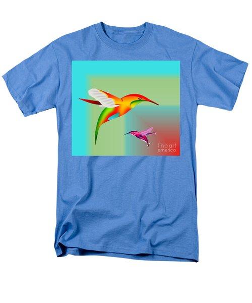 Colorful Hummingbirds Men's T-Shirt  (Regular Fit)