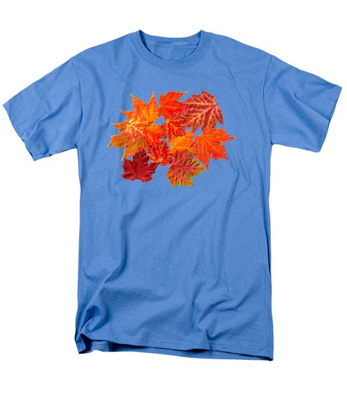 Colorful Maple Leaves Men's T-Shirt  (Regular Fit) by Christina Rollo