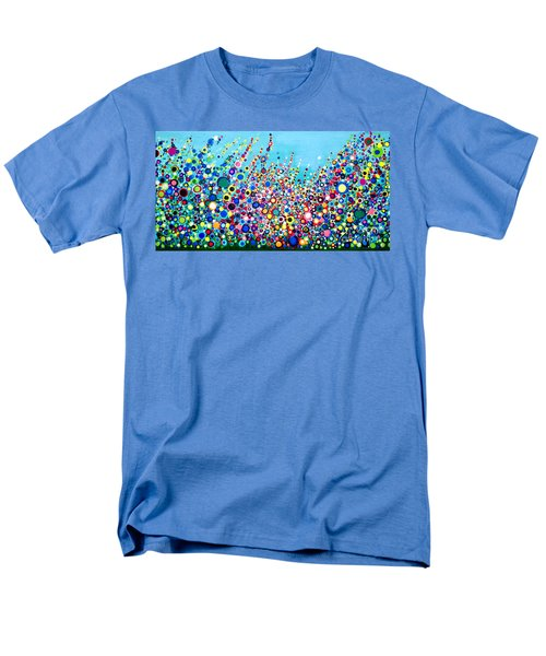Men's T-Shirt  (Regular Fit) featuring the painting Colorful Spring Flowers by Maja Sokolowska