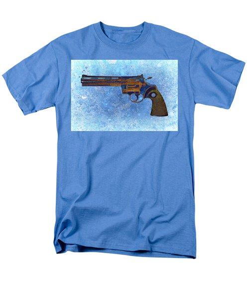 Colt Python 357 Mag On Blue Background. Men's T-Shirt  (Regular Fit) by M L C