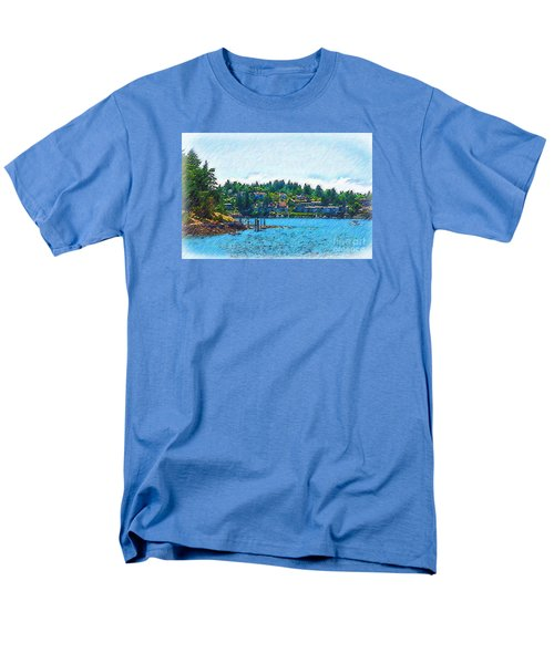 Men's T-Shirt  (Regular Fit) featuring the digital art Coming Into Friday Harbor by Kirt Tisdale