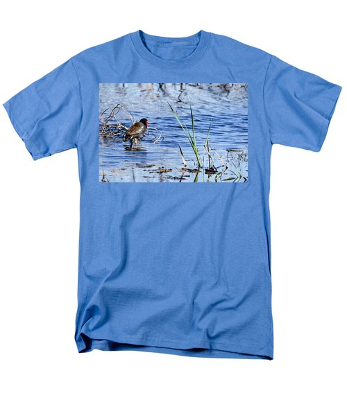 Men's T-Shirt  (Regular Fit) featuring the photograph Common Gallinule by Gary Wightman