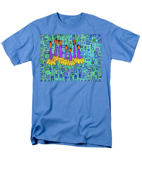 Men's T-Shirt  (Regular Fit) featuring the painting Coneflower Ballet by Donna Howard