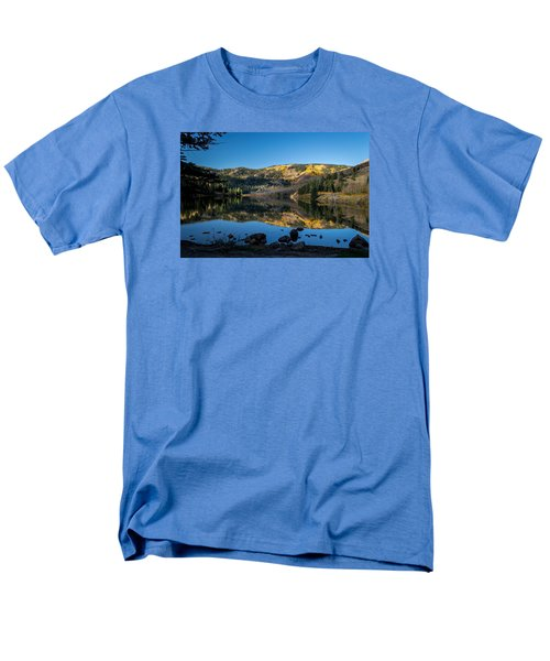 Contract Lake Fall Morning Men's T-Shirt  (Regular Fit) by Michael J Bauer