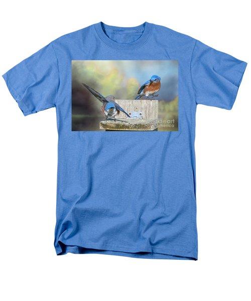 Men's T-Shirt  (Regular Fit) featuring the photograph Dancing Bluebirds by Bonnie Barry