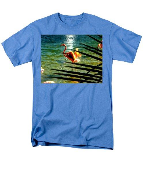 Dancing Flamingo Men's T-Shirt  (Regular Fit) by Yolanda Rodriguez