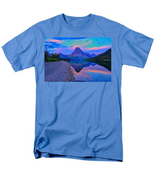 Men's T-Shirt  (Regular Fit) featuring the photograph Dawn At Two Medicine Lake by Greg Norrell