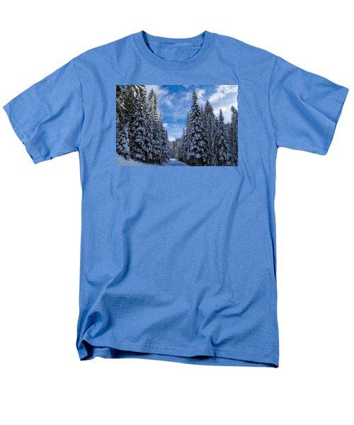 Deep In The Snowy Forest Men's T-Shirt  (Regular Fit) by Lynn Hopwood