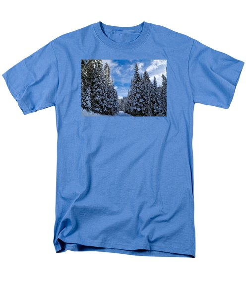 Deep In The Snowy Forest Men's T-Shirt  (Regular Fit)