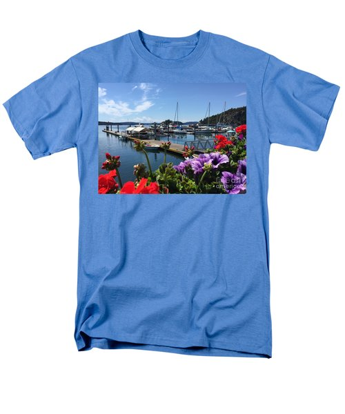 Men's T-Shirt  (Regular Fit) featuring the photograph Deer Harbor By Day by William Wyckoff