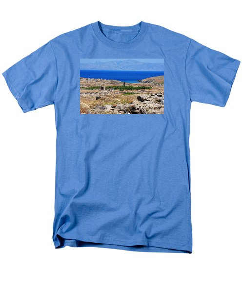 Men's T-Shirt  (Regular Fit) featuring the photograph Delos Island View Of Agean by Robert Moss