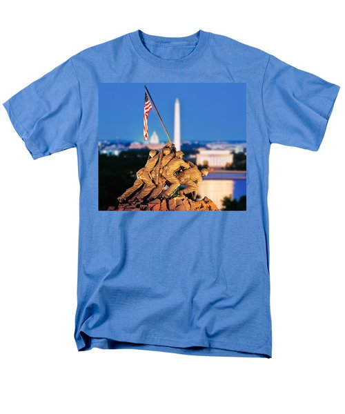 Digital Composite, Iwo Jima Memorial Men's T-Shirt  (Regular Fit) by Panoramic Images