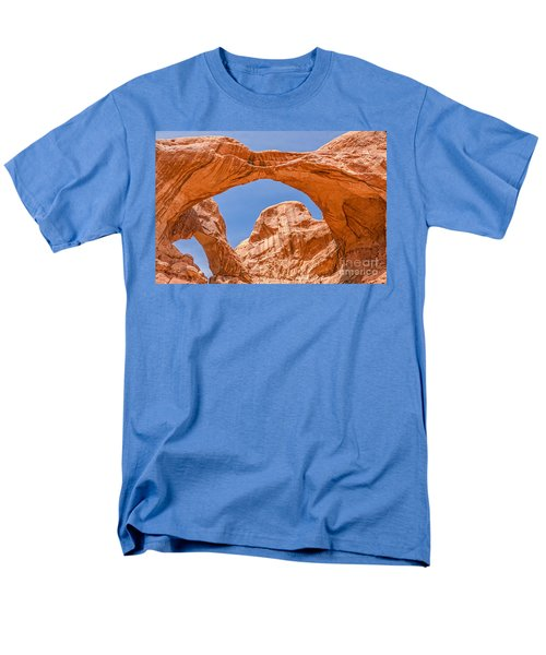 Double Arch At Arches National Park Men's T-Shirt  (Regular Fit) by Sue Smith