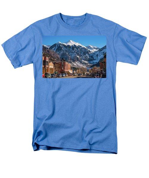 Downtown Telluride Men's T-Shirt  (Regular Fit) by Darren White