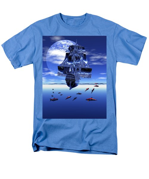 Men's T-Shirt  (Regular Fit) featuring the digital art Dream Sea Voyager by Claude McCoy