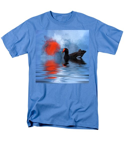 Duck In A Pond Men's T-Shirt  (Regular Fit) by Cyndy Doty