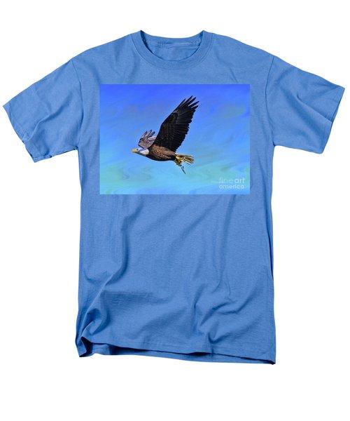 Men's T-Shirt  (Regular Fit) featuring the photograph Eagle Series Success by Deborah Benoit