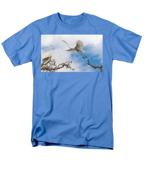 Men's T-Shirt  (Regular Fit) featuring the photograph Egret Grace by Kelly Marquardt