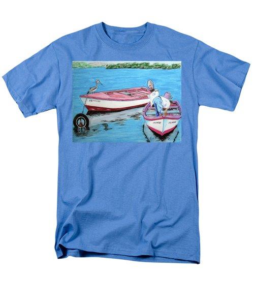 El Pescador De Guanica Men's T-Shirt  (Regular Fit) by Luis F Rodriguez