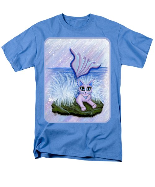 Men's T-Shirt  (Regular Fit) featuring the painting Elemental Water Mermaid Cat by Carrie Hawks