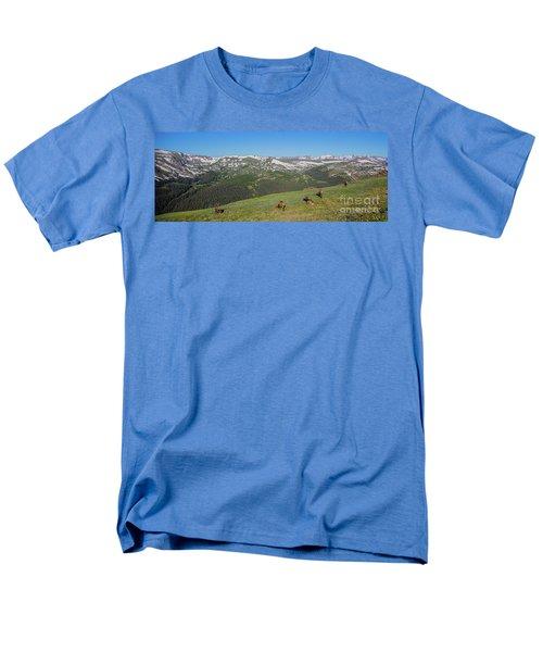 Elk Grazing In Rmnp Men's T-Shirt  (Regular Fit) by John Roberts