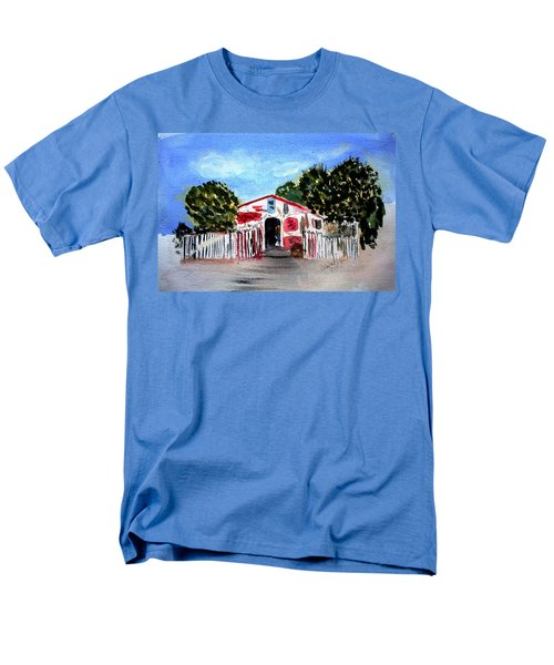 Men's T-Shirt  (Regular Fit) featuring the painting Emiles Road Side Grocer by Donna Walsh