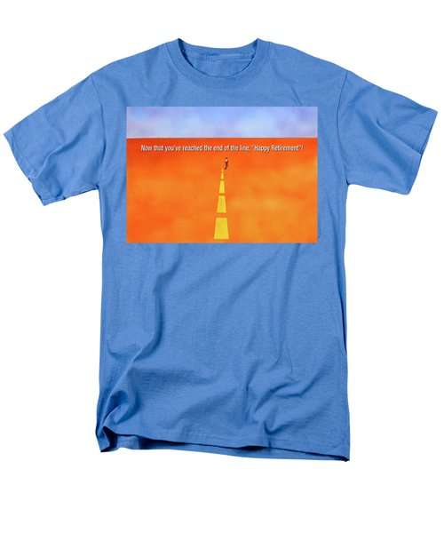 End Of The Line Greeting Card Men's T-Shirt  (Regular Fit)