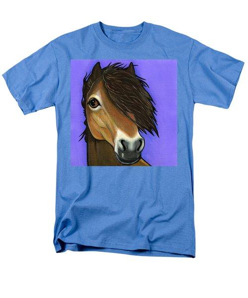 Exmoor Pony  Men's T-Shirt  (Regular Fit) by Leanne Wilkes