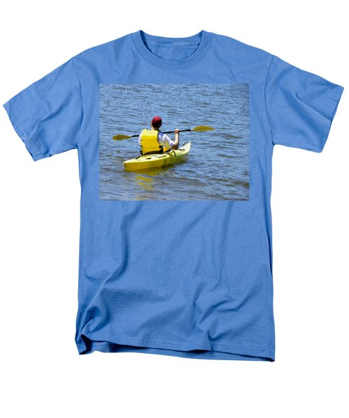 Men's T-Shirt  (Regular Fit) featuring the photograph Exploring In A Kayak by Sandi OReilly