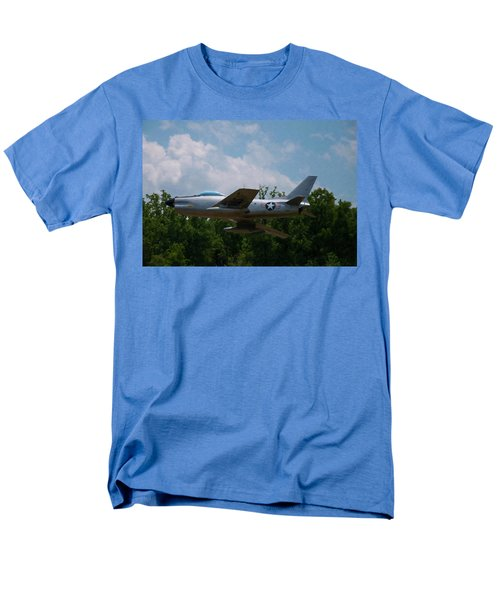 Men's T-Shirt  (Regular Fit) featuring the digital art F-86l Sabre by Chris Flees