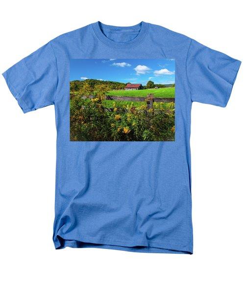 Men's T-Shirt  (Regular Fit) featuring the photograph Fall Farm by Rebecca Hiatt