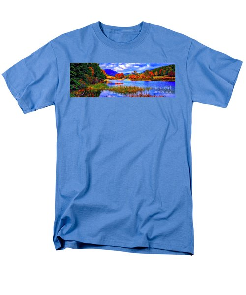 Men's T-Shirt  (Regular Fit) featuring the photograph Fall On Long Pond Acadia National Park Maine  by Tom Jelen