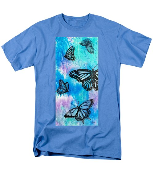 Men's T-Shirt  (Regular Fit) featuring the painting Feeling Free by Susan DeLain