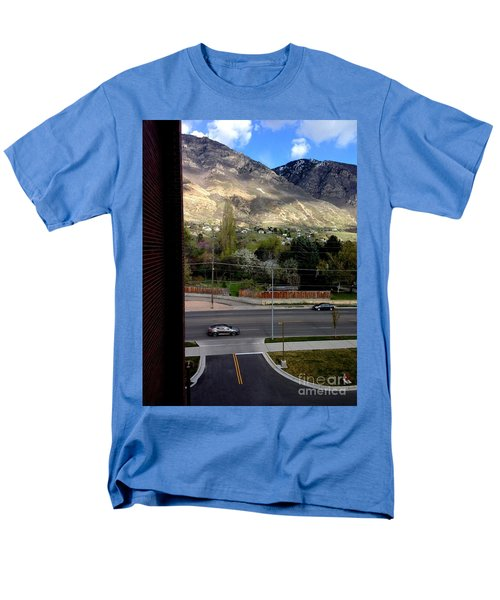 Fire Hydrant Guarding The Byu Y Men's T-Shirt  (Regular Fit) by Richard W Linford
