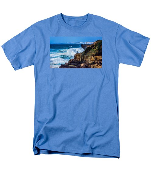 Men's T-Shirt  (Regular Fit) featuring the photograph Fisherman And The Sea by Marion McCristall