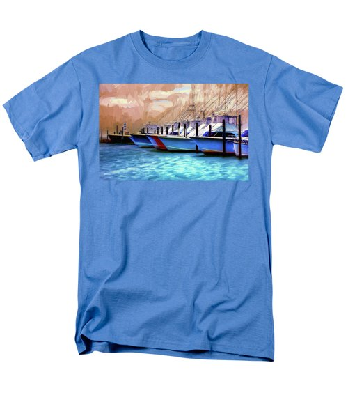 Fishing Boats Of The Outer Banks Ap Men's T-Shirt  (Regular Fit) by Dan Carmichael